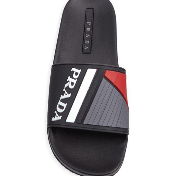 3092ead0f Prada Slides. 13. NIB.  250 retail
